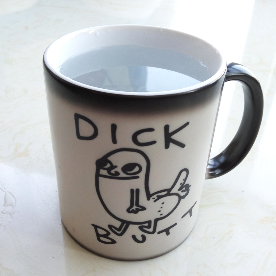 Dick Butt Color Changing Mug Ceramic Coffee Cup Surprise gift