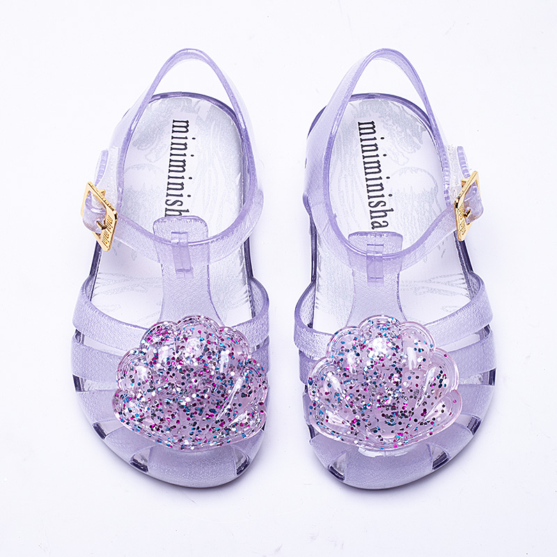 Mini Melissa Brand 2018 New Girl Jelly Sandals Roman Girl Sandals Breathable Melissa Sho ...