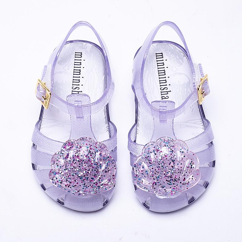 Mini Melissa  Brand 2019 New Girl Jelly Sandals Roman Girl Sandals Breathable Melissa  Shoes Toddler Sandals 13.5-16.5cm