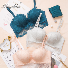 MengShan Ring-free lace edge Female underwear Massage palm cup push up bra Comfortable gathering sexy women
