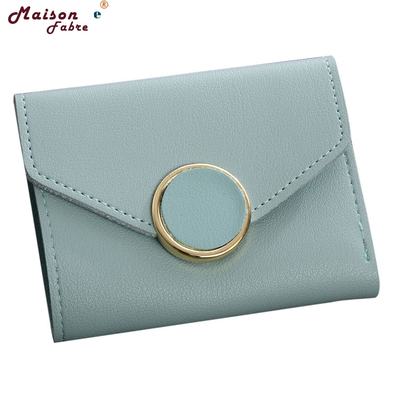 Hot selling Women Simple Short Wallet Hasp Coin Purse Card Holders Handbag drop shipping 0522