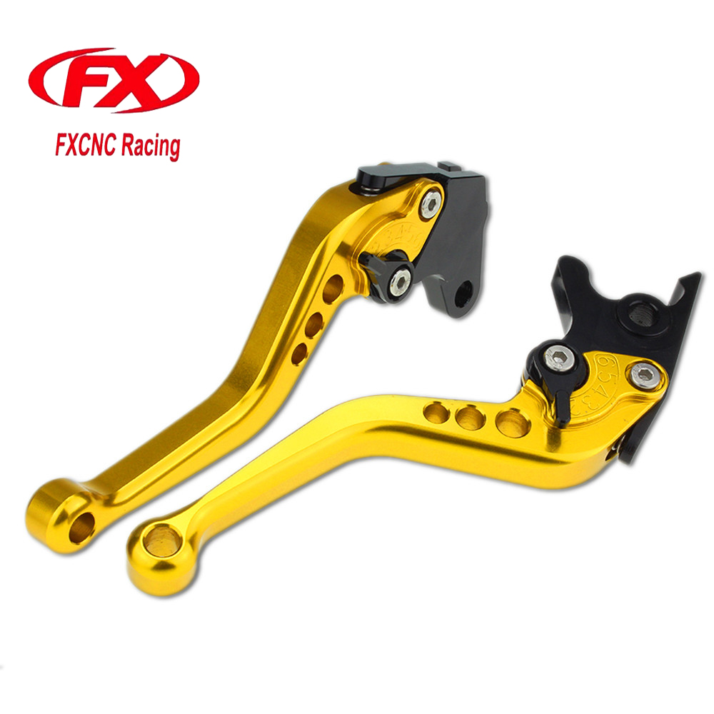 FXCNC Motorcycle Adjustable Short Brake Clutch Levers For Yamaha FZS 600 S 2002-2003 TDM 900 2002-2003 Brake Lever Clutch Handle