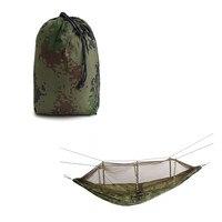 260x140 cm Pessoa Duplo sacos de Dormir Camuflagem Rede Balançar Pendurado Nylon saco de Dormir Camping Cama preguiçoso Com Mosquito Net