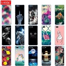 Siliconen Case Voor Huawei Honor V10 View 10 Soft Tpu Back Phone Cover Voor Huawei Honor 10 Case Etui Beschermende afdrukken Coque Kat