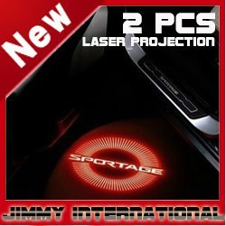 2012 NEW 2pcs car LOGO led Laser Light The cheapest price