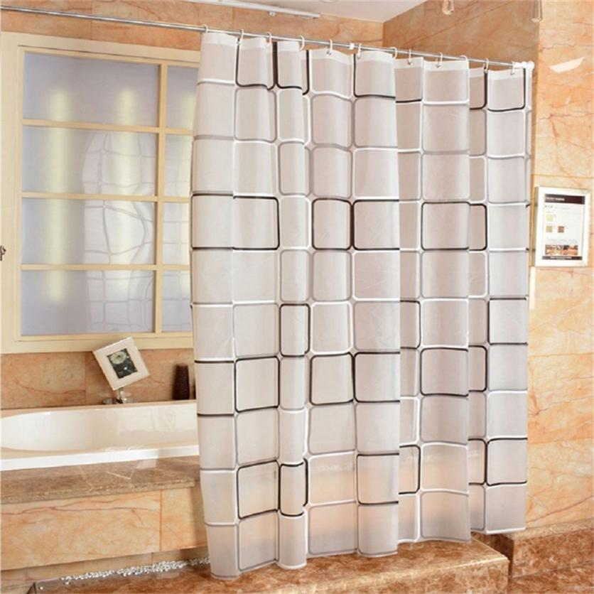 Stylish Modern Lattice Print Creative Fresh Beach Yulian Waterproof And Mildew Creative Bathroom