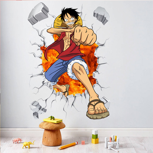 One Piece Anime Comic Luffy Breack Wall 3D Window Wall Stickers Decals Vinyl Decoration Fashion Decor  sc 1 st  AliExpress.com & One Piece Anime Comic Luffy Breack Wall 3D Window Wall Stickers ...