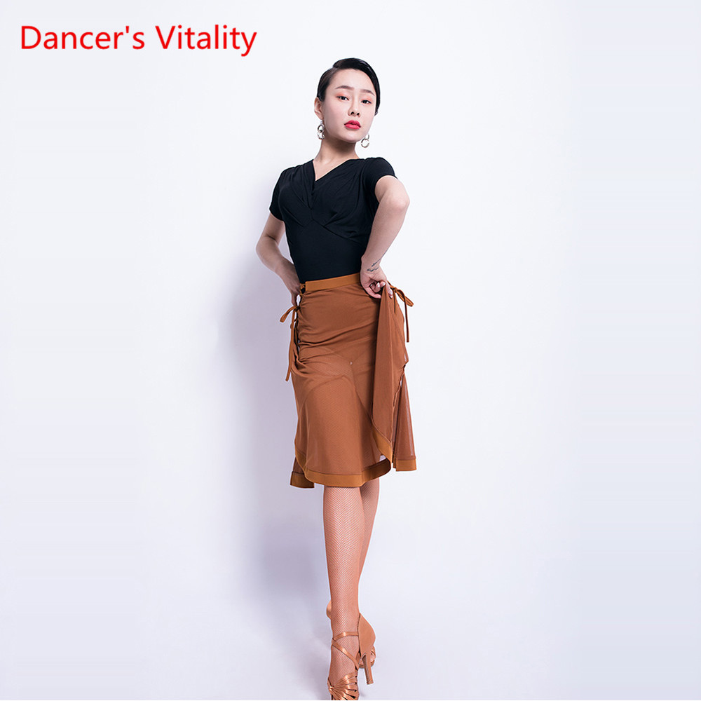 Latin Dance Practice Clothes Women's Shirt New Dance Performance/ Competition Clothing Female Adult Latin Dance Clothes