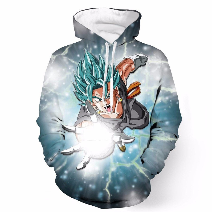2017 sweatshirt Hoodies Men women Cool creative 3D print Lightning Dragon Ball Z fashion hot Style Streetwear Cloth wholesale
