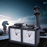 New Kitchen timer 1pc Multifunctional Analog Chess Clock I go Count Up Down Timer for Game Competition Sport Kitchen timers