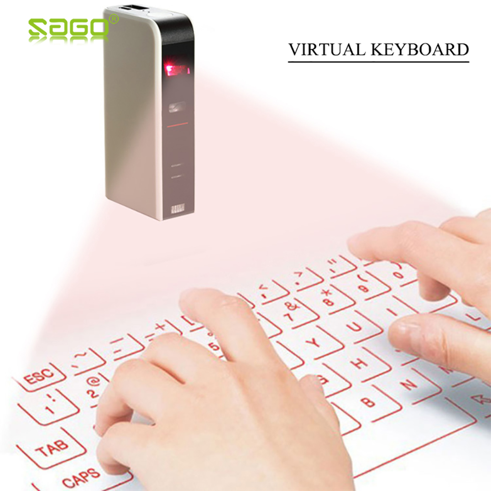 Mini Laser keyboard Official Virtual Projection Bluetooth Wireless Keyboard for Tablets /iPad/iPhone/Android Smart Phones цена