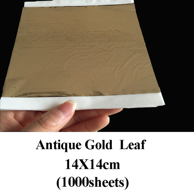 1000 Sheets Antique Imitation Gold Shiny Imitation Gold Leaf,gilding, Foil  Paste Furniture Lines