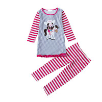 Novatx FG4645 Kids Causal Style Gilr Autumn Winter Clothing Sets Printed Fashion Girl And Patten Girls