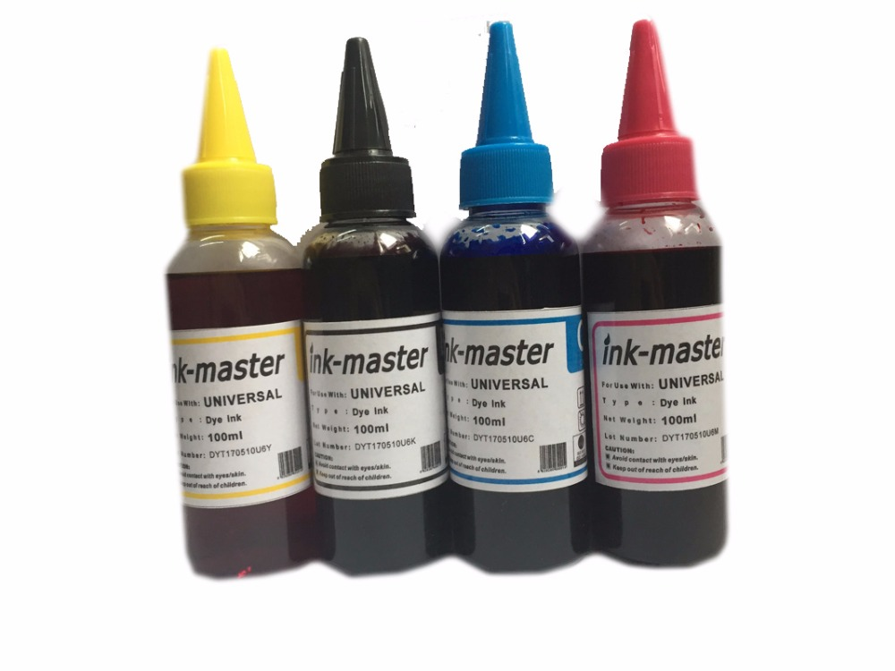 einkshop Brand 4 x 100ml Water Dye Ink Printer ink For HP 364 655 564 178 920 940 862 950 932 CISS Ink Cartridge in Ink Refill Kits from Computer Office