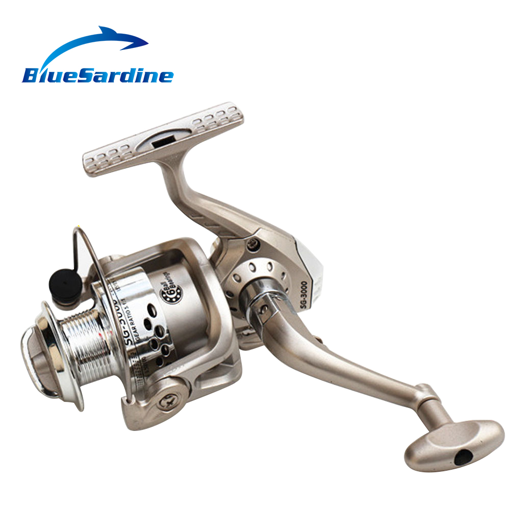 BlueSardineHot Sale Fishing Reel 3000 SG 6BB Coil Spinning Reels voor visuitrusting Kwaliteit