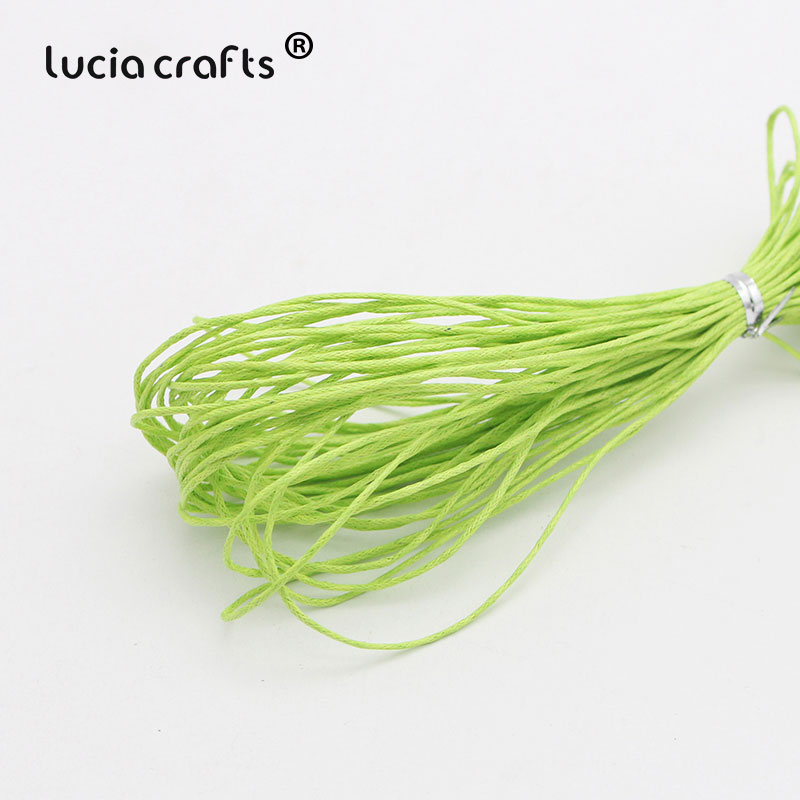 1 мм вощеная нить, хлопковый шнур, веревка, ожерелье, бусы, веревка, цвета, как показано на картинке(10 лет/Лот) W0703 - Цвет: Color 19
