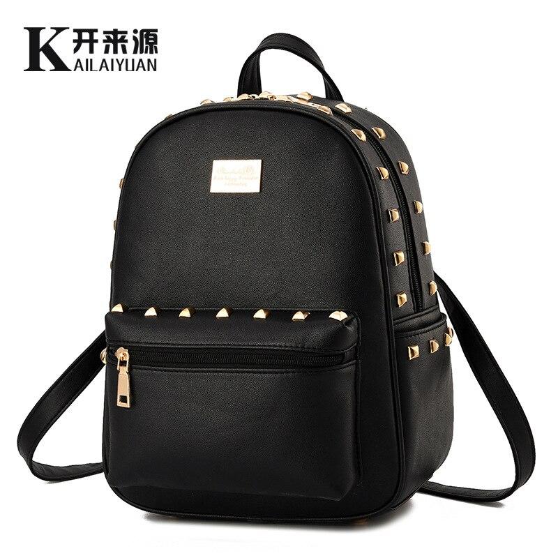 100 Genuine Leather Women Backpack 2017 Fashionista New