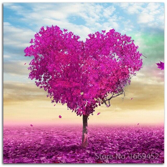 Diamante bordado pintura árbol de amor set para bordado árbol foto ...