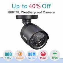 SANNCE  CCTV Camera 800TVL IR Cut Filter Day/Night Vision Video Outdoor Waterproof IR Bullet Surveillance Security Camera