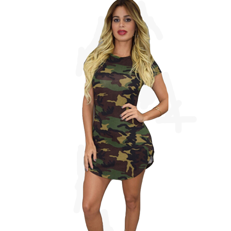 summer autumn fashion short sleeve sexy bodycon pencil With robe militaire femme