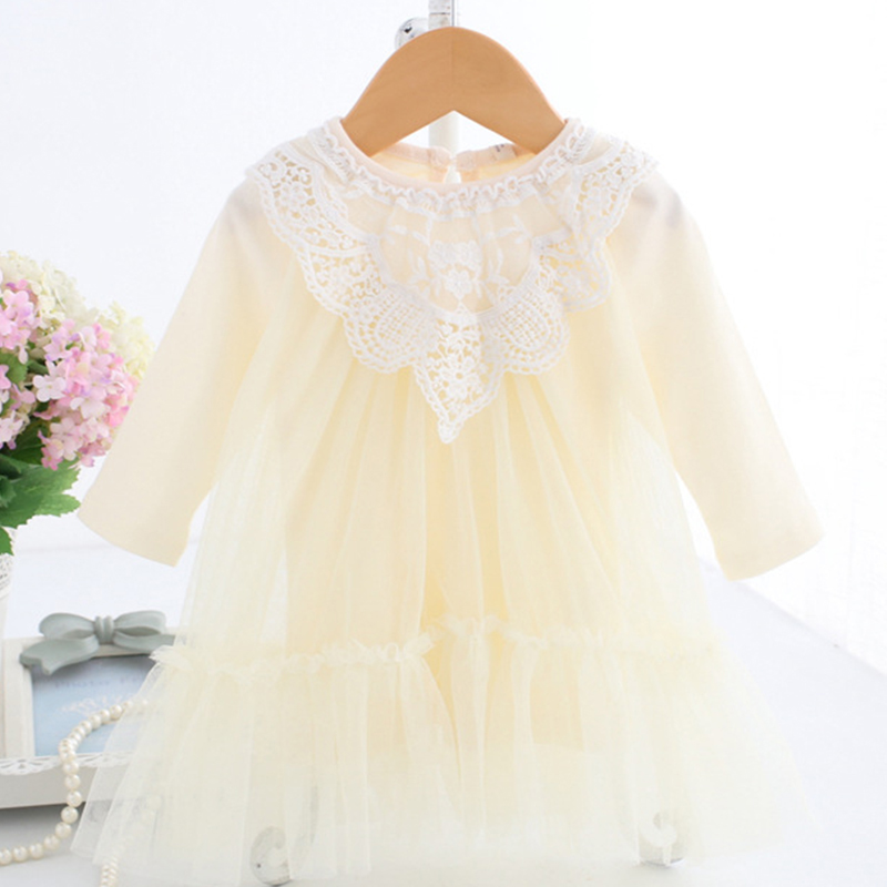 504e63e5d6ab Baby Dress Long Sleeve Dress with Vine Embroidered Floral Dress Toddler Girl  Spring Clothes Baby Outfits B014 Vestidos Infantil