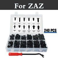 240x Push Retainer Kit,Black Nylon Clips Plastic Rivet Storage Case For Zaz 1102 Tavria 1103 Slavuta Dana Chance Nova Sens Vida