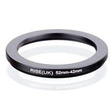 RISE (UK) 52mm-42mm 52-42mm 52 para 42 Step down Anel Adaptador Filtro preto