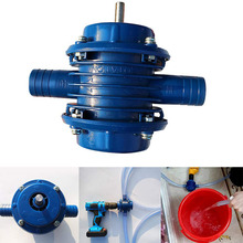Heavy Duty Self-Priming Hand Electric Drill Water Pump Home Garden Centrifugal Pump Water Pump - Blue цены онлайн