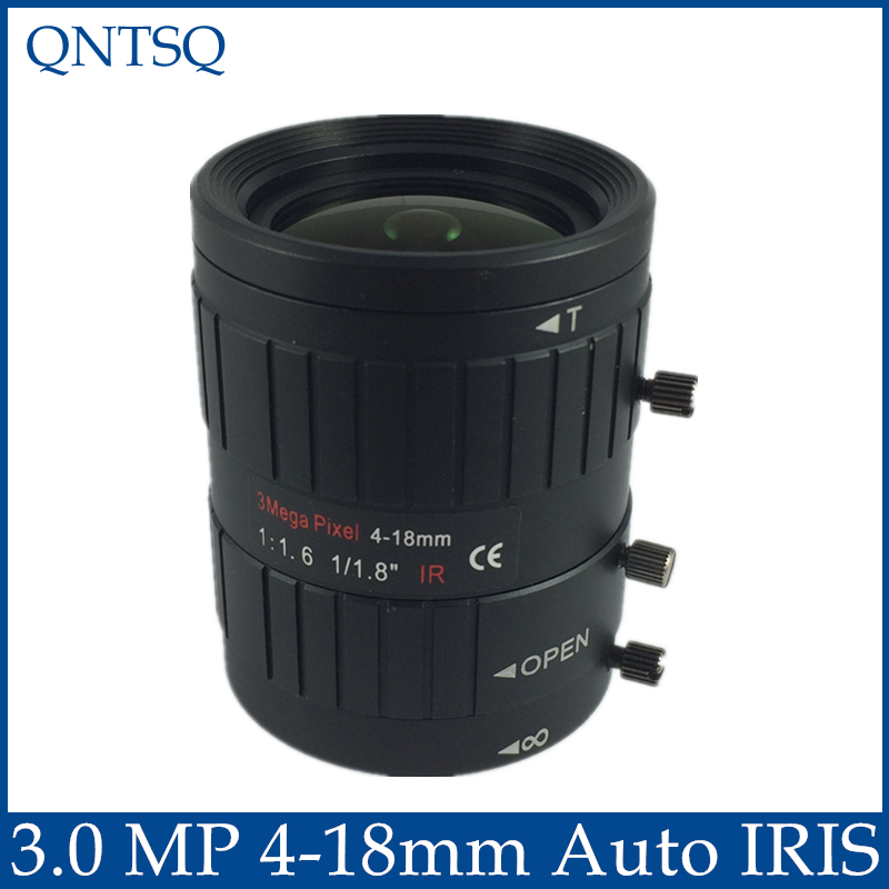 3MP. Lens to meet HD network cameras  4-18mm Auto Iris lens 1/1.8 c mount F1.6 CCTV Lens.CY-c0418mm-3MP3MP. Lens to meet HD network cameras  4-18mm Auto Iris lens 1/1.8 c mount F1.6 CCTV Lens.CY-c0418mm-3MP