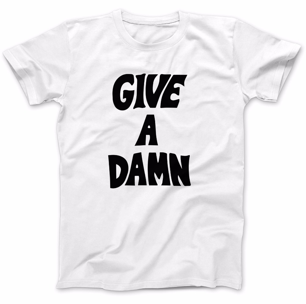 Give A Damn As Worn By Alex Turner T-Shirt 100% Premium Cotton Music Gift Funny Tee T-SHIRT New2017 More Size And Colors-A788