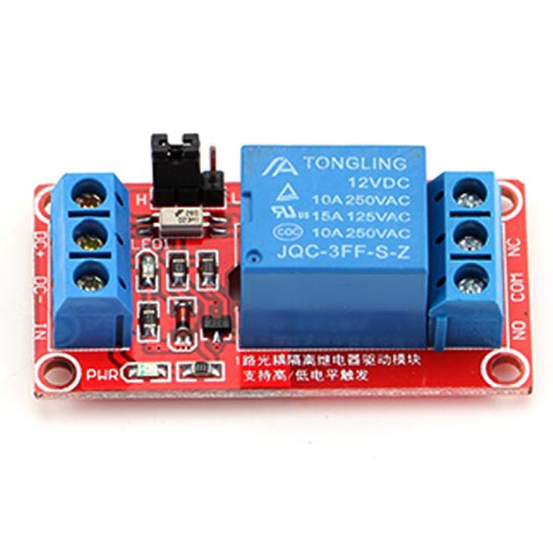 Professional FR-4 Relays 12V 1 Channel Relay Module with Optocoupler High Level Trigger Electrical Equipment Parts for Arduino