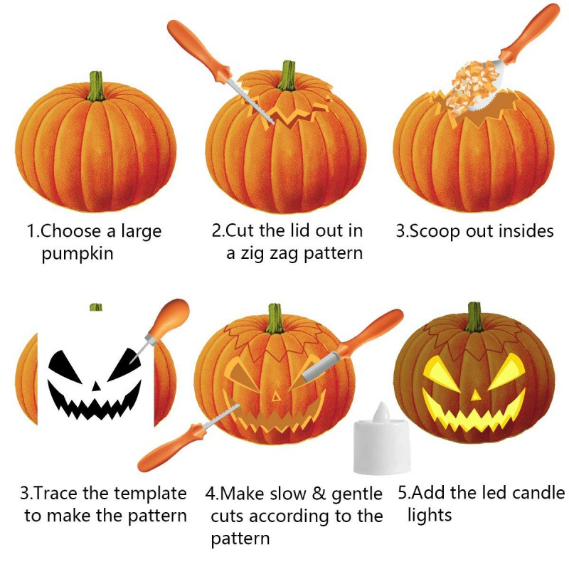 New Choose One Pumpkin Carving Kit Tools