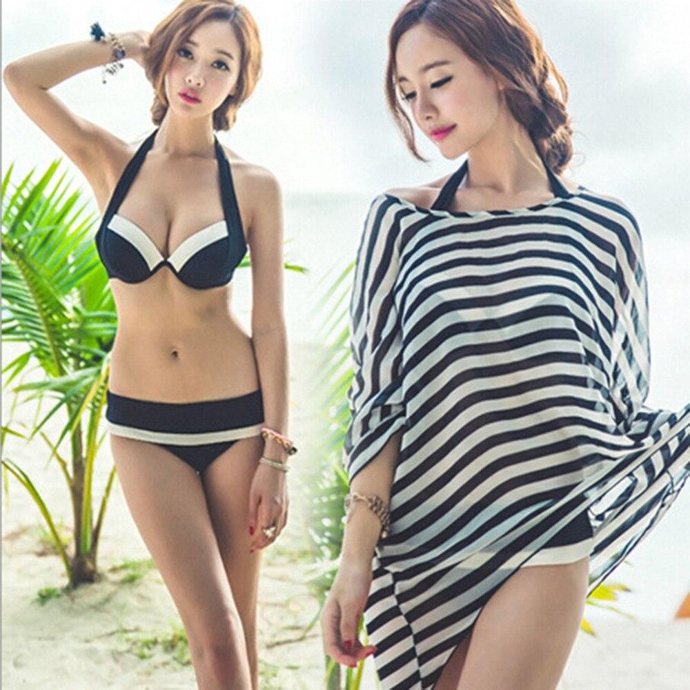 ФОТО HW3 Stks Vrouwen Duwen Up Padded Bikini Sexy Bh + Rok Onderkant Badmode Zwart/Rood Baden Suits Lady Badpak Hot selling