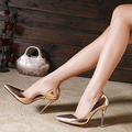 Nuevo 2015 Plata Tacones Stilettos Tacones Altos Primavera Verano Rojo Bottom Punta estrecha Tacones Finos Partido de Las Mujeres Zapatos de Las Señoras Bombas zapatos