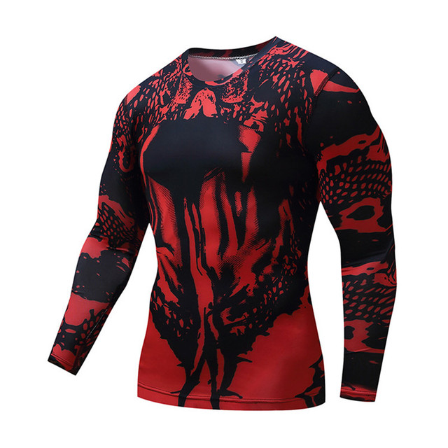 6cd9baf62e5e1 2018 Camouflage T-Shirt Long Sleeve T Shirt Men Compression shirts 3D Quick  Dry Fitness Tights Breathable Base Layer Tops & Tees