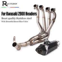 New Slip On Full Complete System with Exhaust For Kawasaki Z900 2017 Motorcycle Modified Muffler Pipe Front Header Pipe Tube