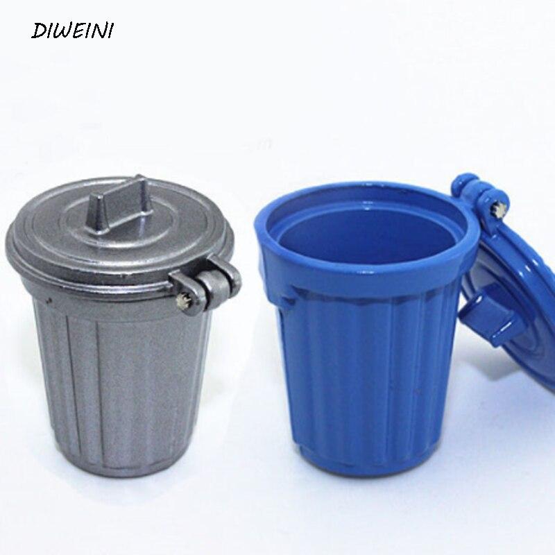 1 Pcs/set Kawaii 1:12 Miniature Dustbin / Trash Can Simulation Kitchen Action Figure Toys