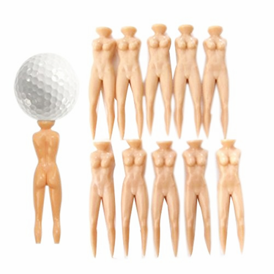 3 Inch 76 Mm Sexy Nude Woman Plastic Golf Tees