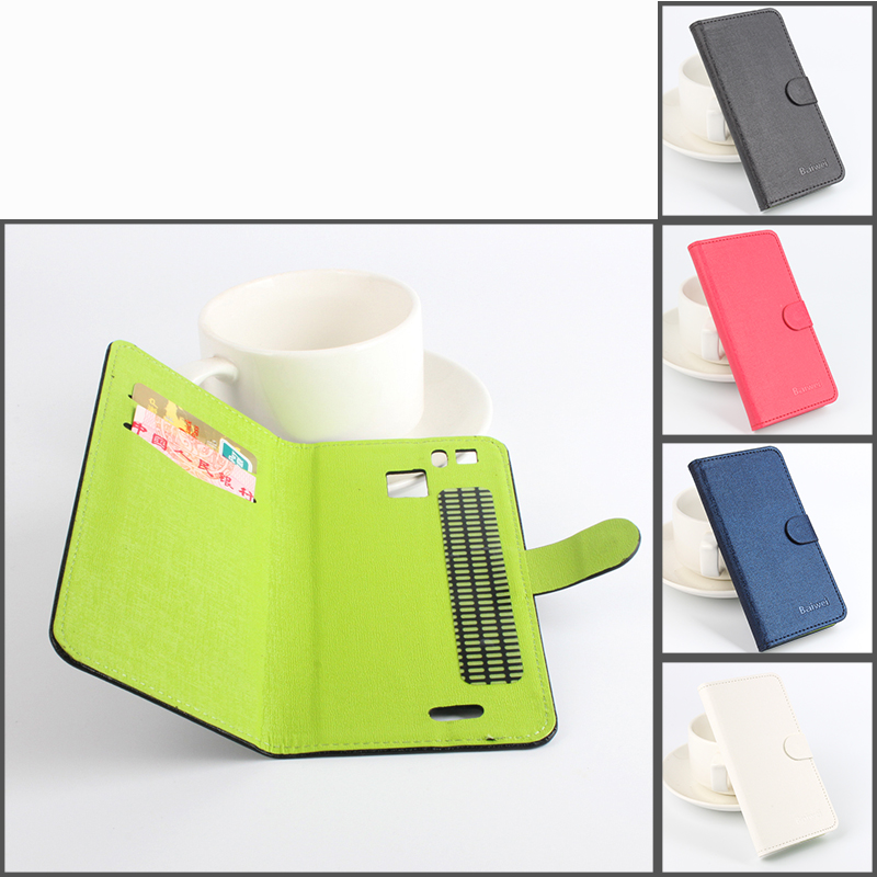 HOT High Quality Left Right Flip Hit Color Leather case With Stand Holster For Cubot S600 Smartphone 4 Colors