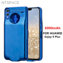 NTSPACE Battery Charger Cases For HUAWEI Enjoy 9 Plus Power Case 6000mAh Backup Bank Pack External Charging Cover