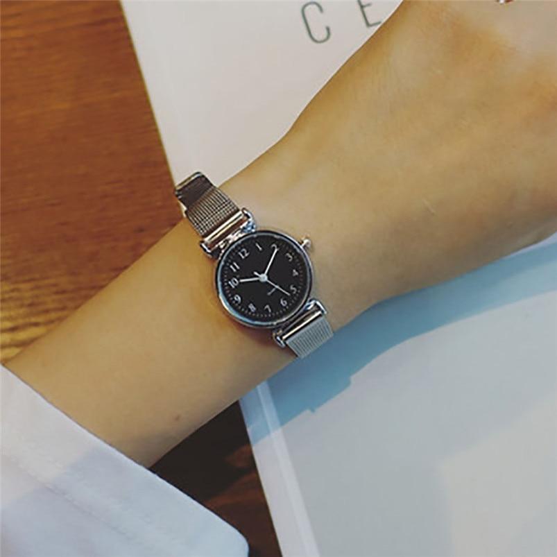 Relogio Feminino Women Causal Watches Fashion Leather Quartz Analog Wrist Small Dial Delicate Watch Luxury Business Watches