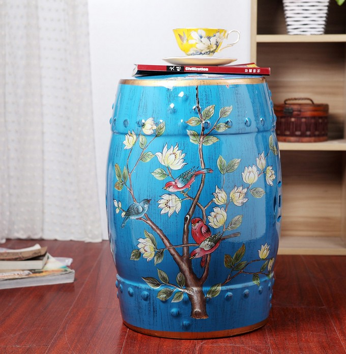 Excellent 5399Cb Buy Ceramic Drum Stool And Get Free Shipping Super Pabps2019 Chair Design Images Pabps2019Com