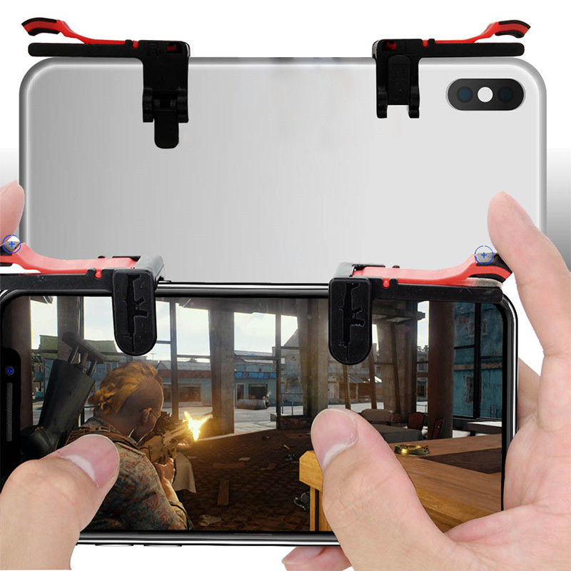 1Pair PUBG Trigger Portable Mobile Controller For PUBG L1R1 Shooter Aim Key Free Fire Button Gamepad For PUBG Gaming Accessories