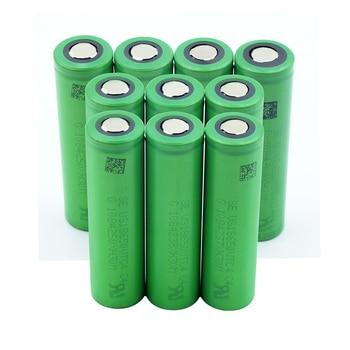 1/2/4/6/8/10 Pieces 3.6 V Volt Green Flat 18650 Li-ion Lithium Batteries High Drain 2100mAh US18650VTC4 VTC4 18650 Batetry
