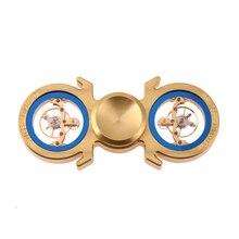 กลวงนาฬิกามือปั่นทองเหลืองนาฬิกามือปั่นรูปแบบใหม่!ขนาดใหญ่แบบDialใสอยู่ไม่สุขปั่นของเล่นต่อต้านความเครียดHandspinner