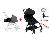 100% оригинальные детские yoya коляска + новорожденных nb гнездо тележка poussette складная детская коляска bebek arabasi BabyZen YoYo детская коляска