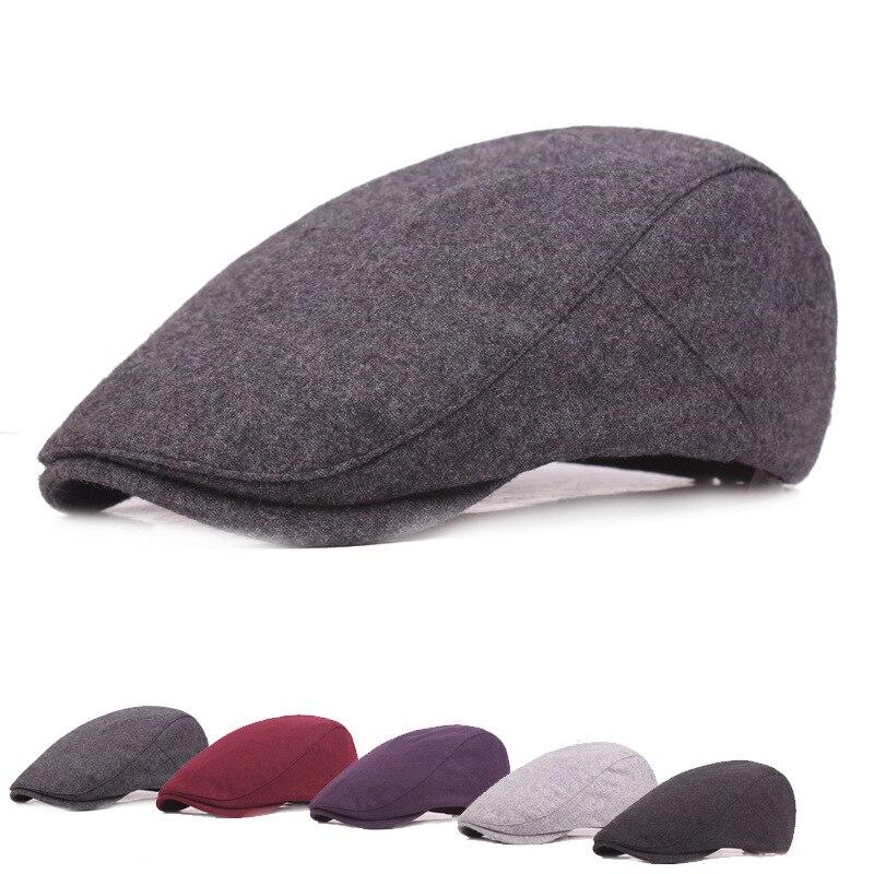 Geersidan nueva Otoño Invierno lana Boinas gorras para hombres mujeres moda  gorras mantener caliente mujeres hombres Beret sombreros casquette cap en  Boinas ... dc380d7b35c