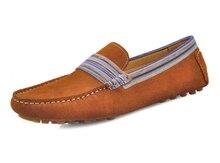 ЕС 38-44 Новый замши Кожа Повседневная поскользнуться на пенни бездельник мужская обувь