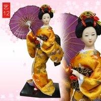 Decoração Artes artesanato presentes da menina casar 1 grátis Kabuki Japonês boneca gueixa boneca filha dia presente Mobiliário de Casa deco