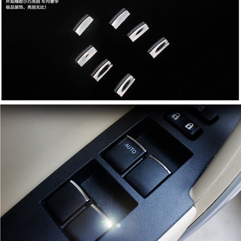 car accessories windows lift switch sticker door button interior cover decoration cover for. Black Bedroom Furniture Sets. Home Design Ideas